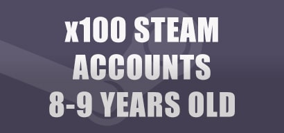 x100 Steam old accounts 8-9 years old
